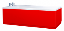 Low Level High Gloss Red Bath Panels with Plinths